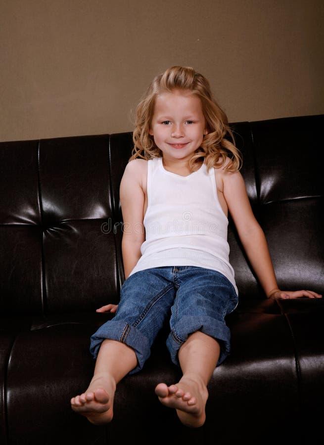 Petite fille blonde photo stock