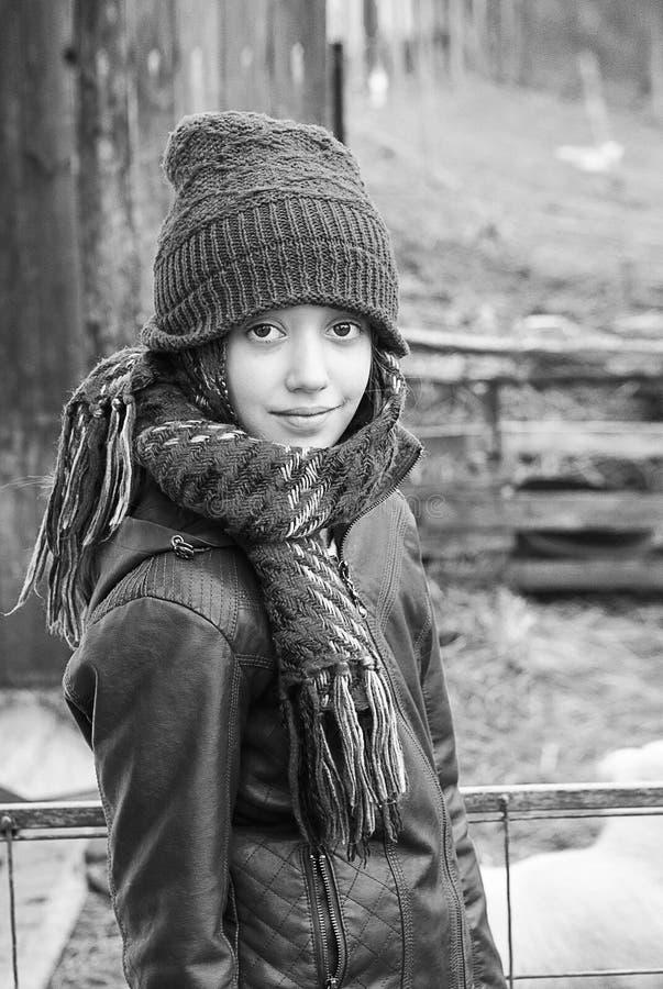 Petite fille caucasienne mignonne photos stock