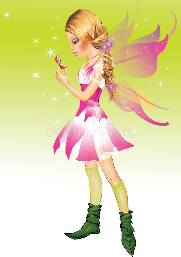 Petite fille d'elfe illustration stock