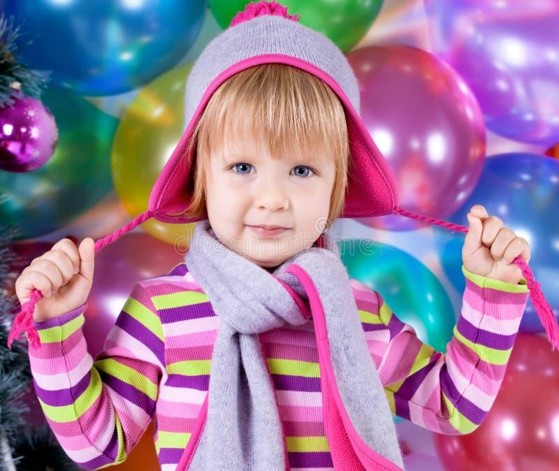 Petite fille dans le chapeau photo stock