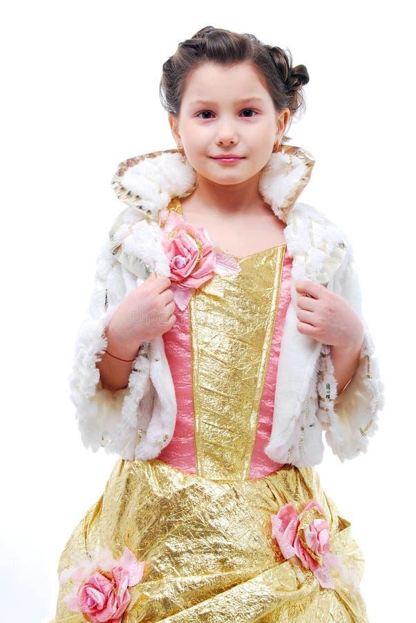 Petite fille dans le costume de princesse images stock