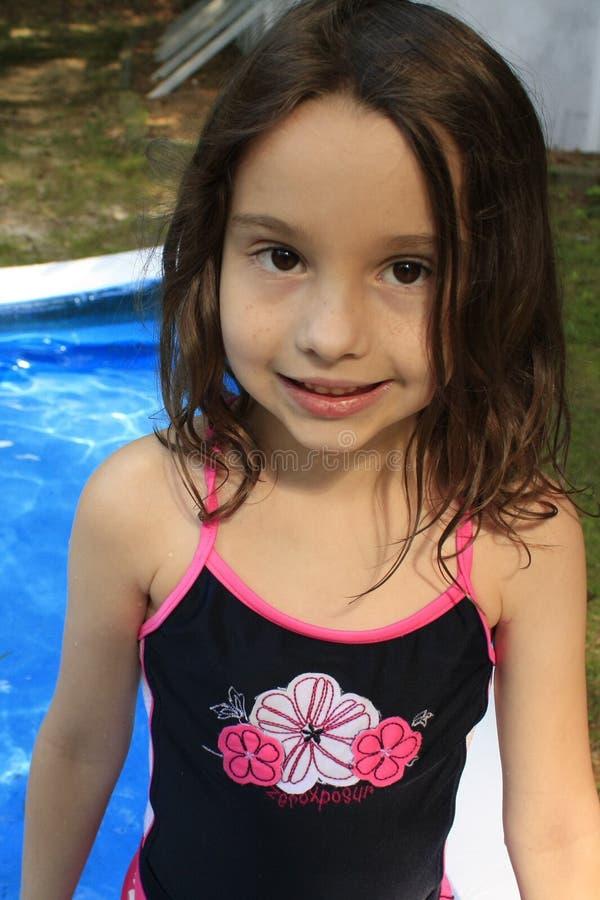 petite fille dans le maillot de bain photographie stock libre de droits image 20353547. Black Bedroom Furniture Sets. Home Design Ideas