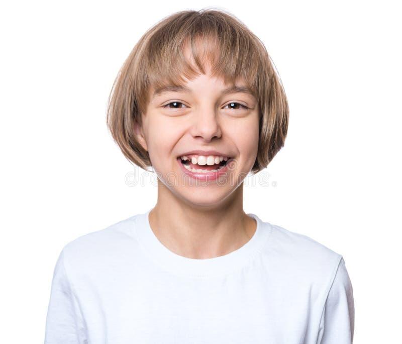 Petite fille dans le T-shirt blanc photos stock
