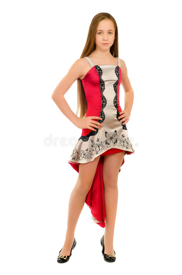 Petite fille dans une robe images stock