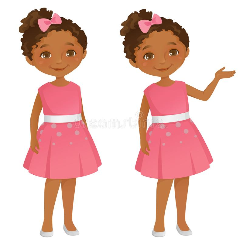 Petite fille de Cutel illustration stock