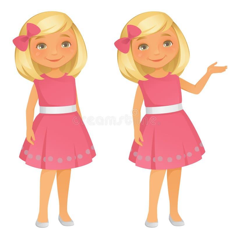 Petite fille de Cutel illustration de vecteur