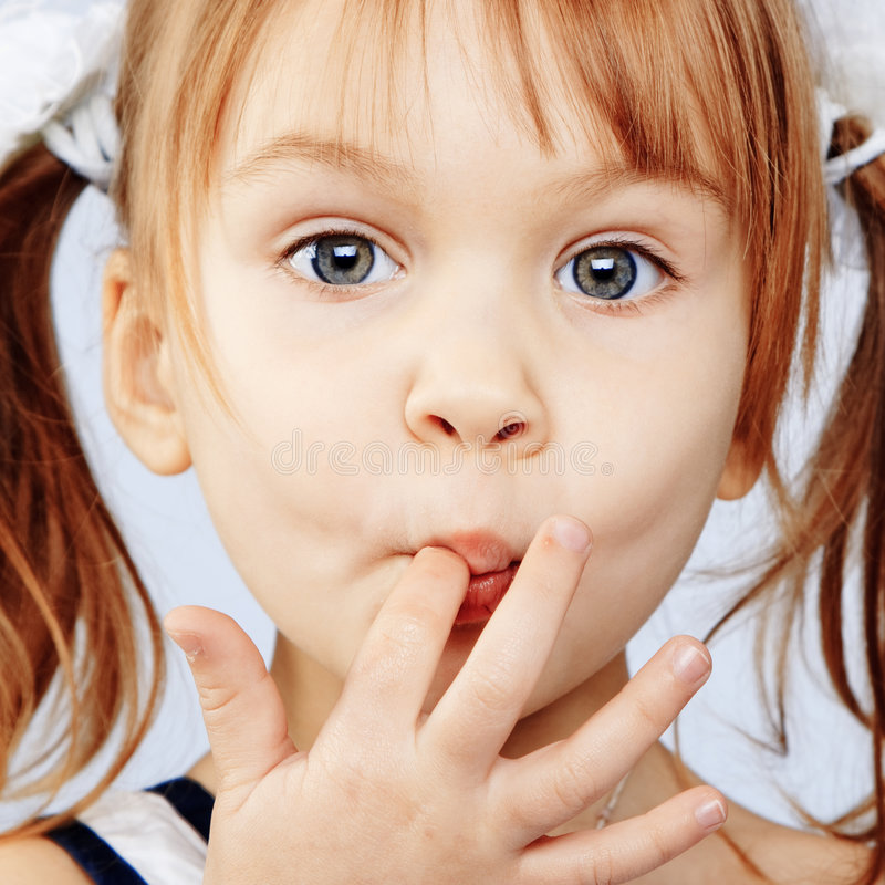 Petite fille de Fanny photographie stock