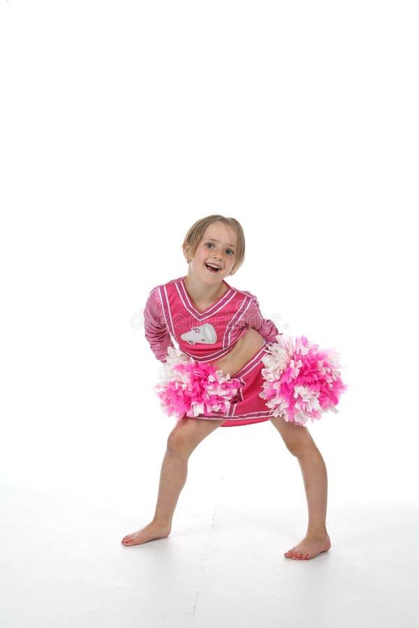 Petite fille de majorette dans le rose photos stock
