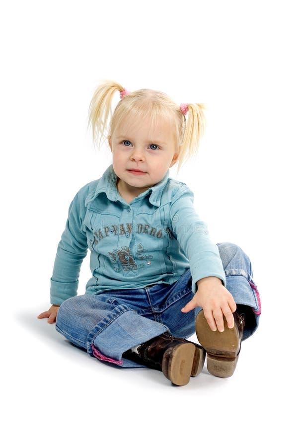 Petite fille de Ponytailed images libres de droits