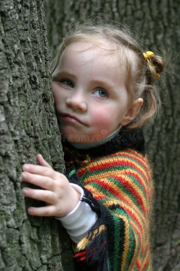 Petite fille de tristesse photo stock