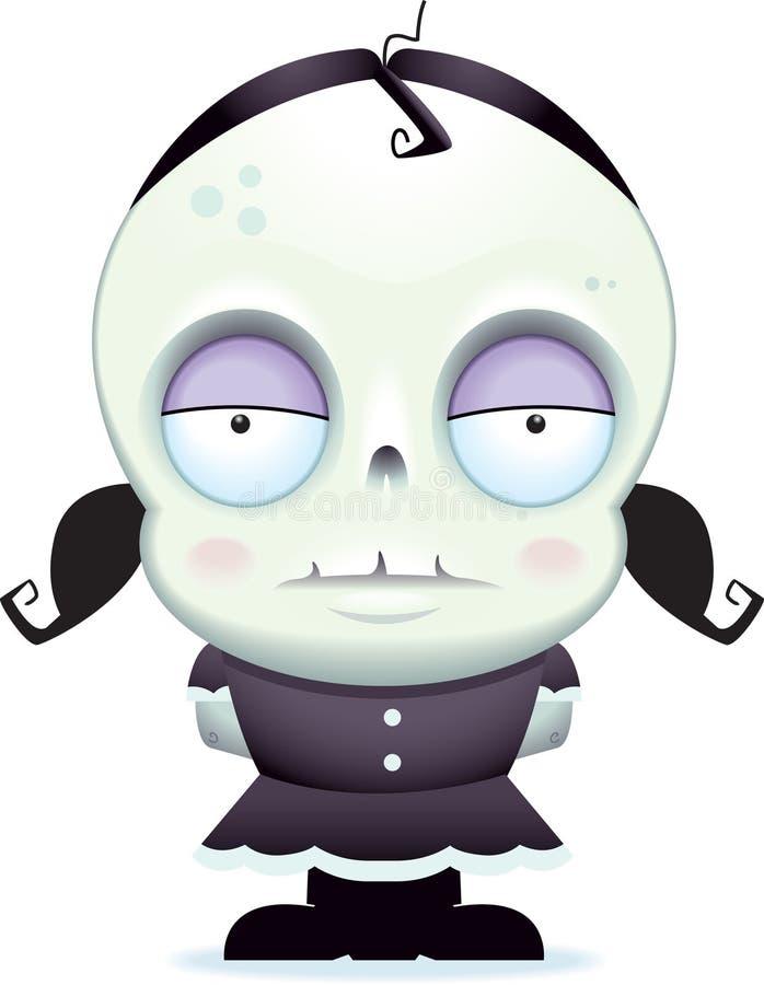 Petite fille de zombi illustration libre de droits