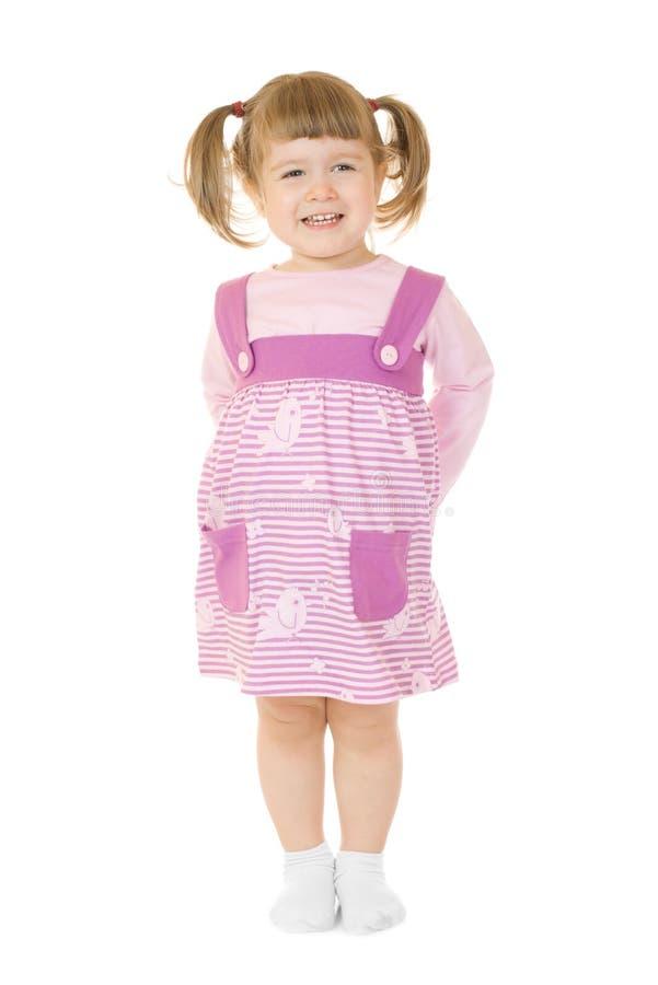 Petite fille debout drôle photos stock