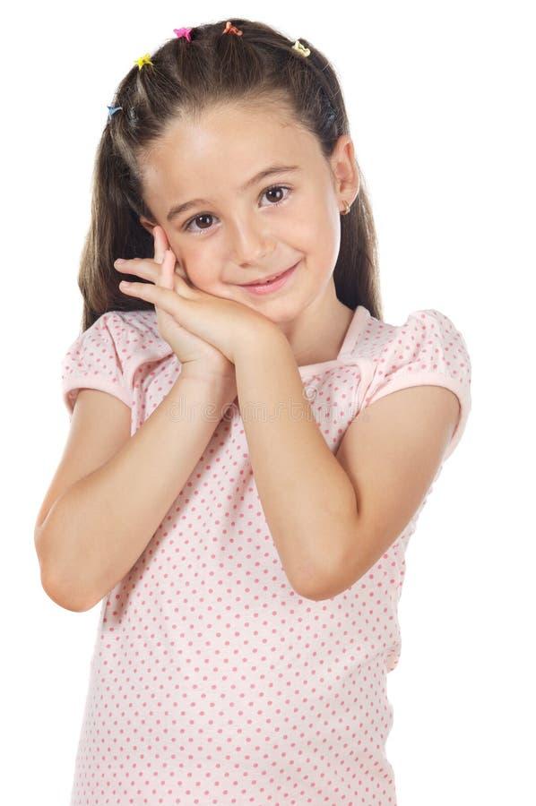 Petite fille douce images libres de droits