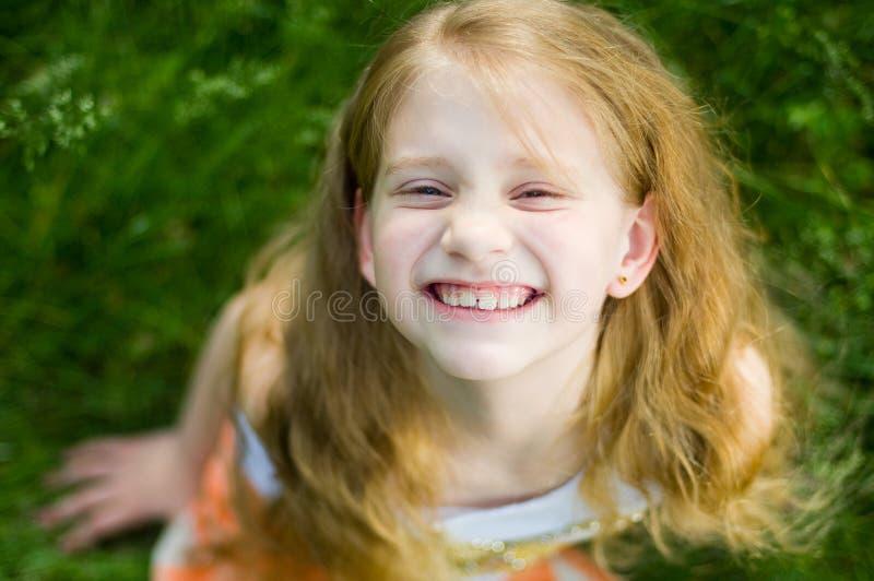 Petite fille drôle images stock
