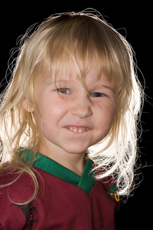 Petite fille drôle image stock