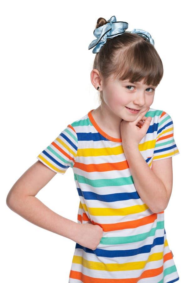 Petite fille drôle image libre de droits