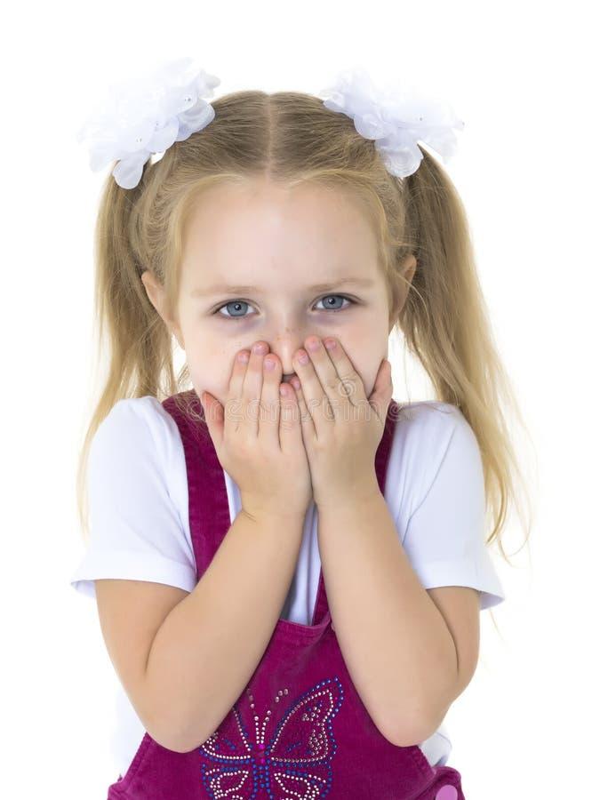 Petite fille effrayée photographie stock