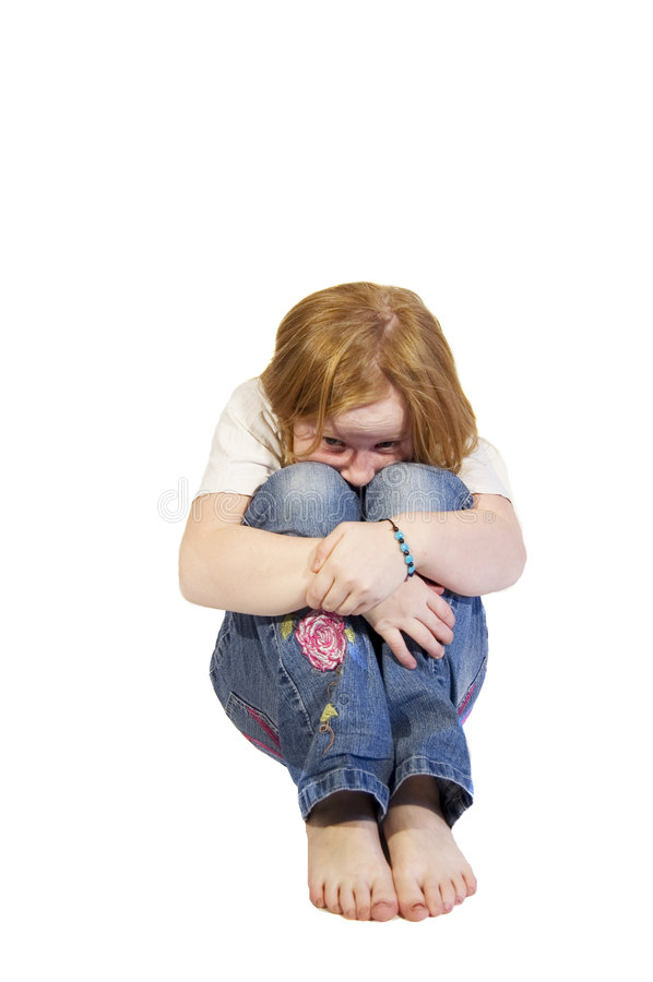 Petite fille effrayée photographie stock libre de droits