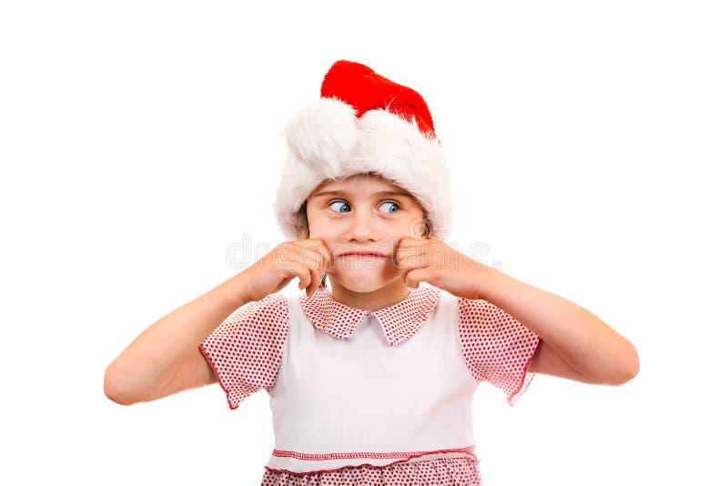 Petite fille en Santa Hat images stock