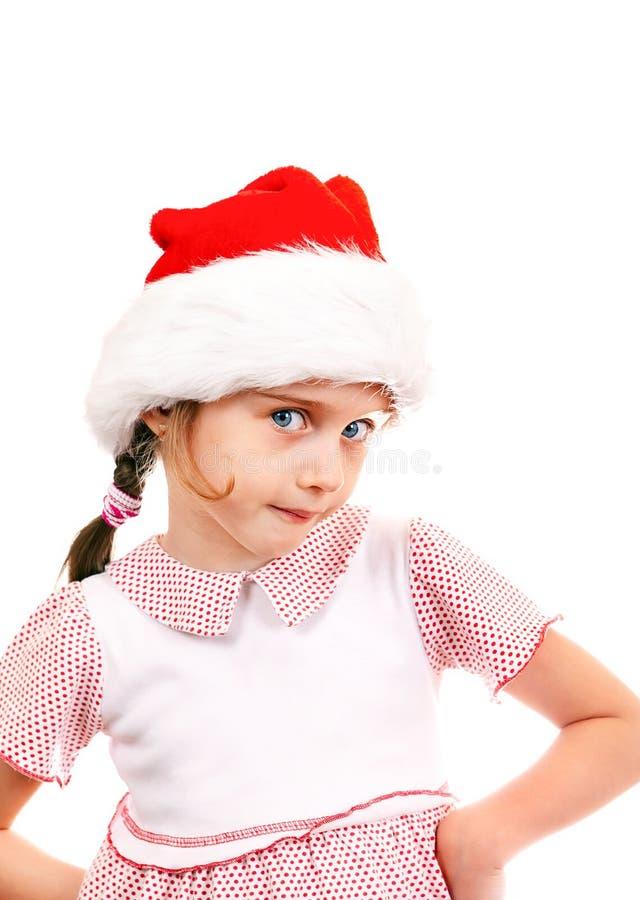 Petite fille en Santa Hat photos stock