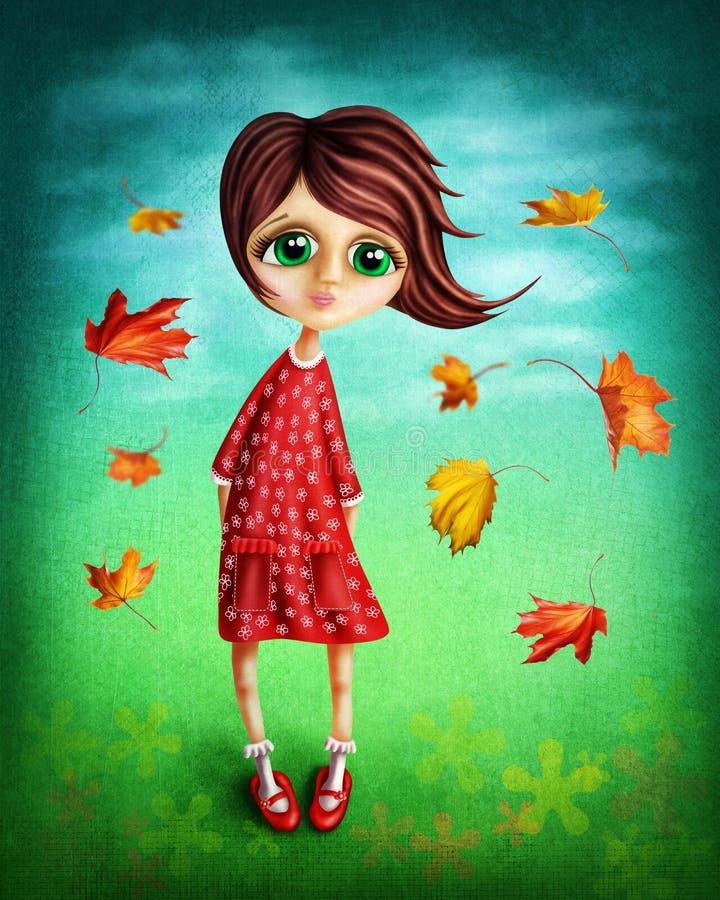 Petite fille féerique illustration de vecteur
