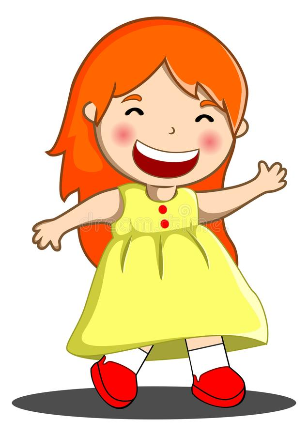 Petite fille heureuse illustration de vecteur