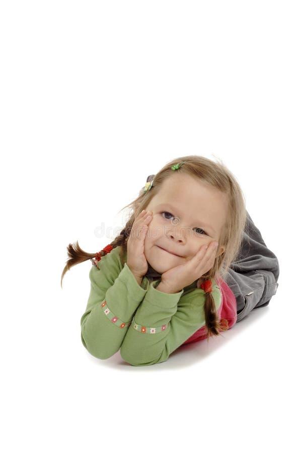 Petite fille heureuse image libre de droits