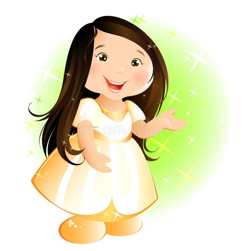 Petite fille heureuse illustration stock