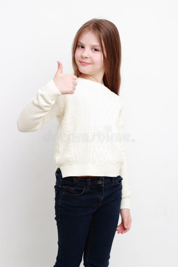 Petite fille heureuse images stock