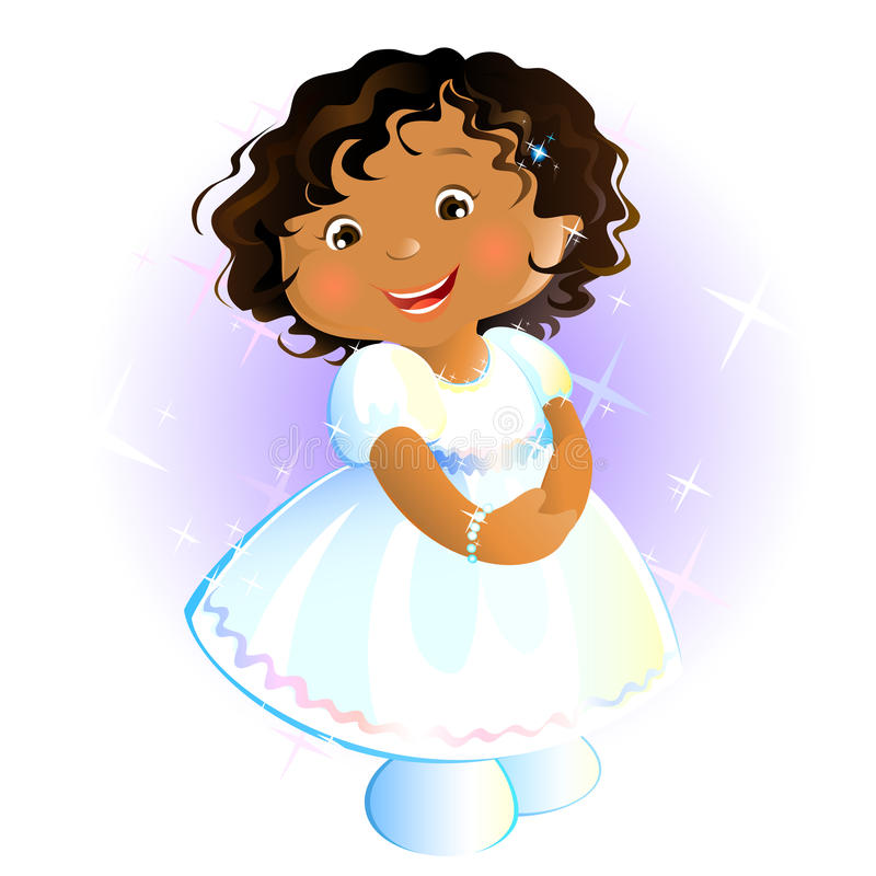 Petite fille heureuse (africaine) illustration de vecteur