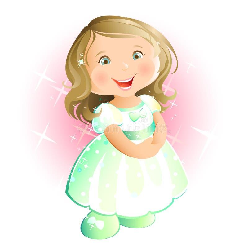 Petite fille heureuse (blonde) illustration libre de droits