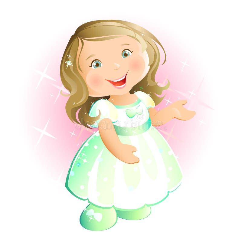 Petite fille heureuse (blonde) illustration de vecteur