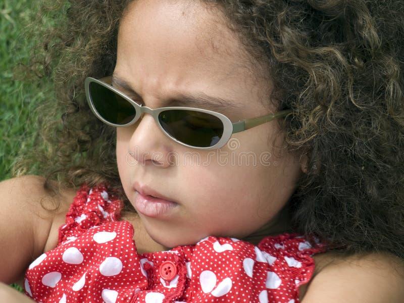 Petite fille intense photo libre de droits