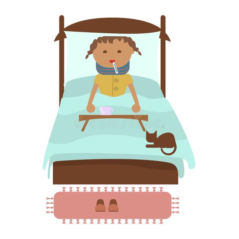 Petite fille malade illustration libre de droits