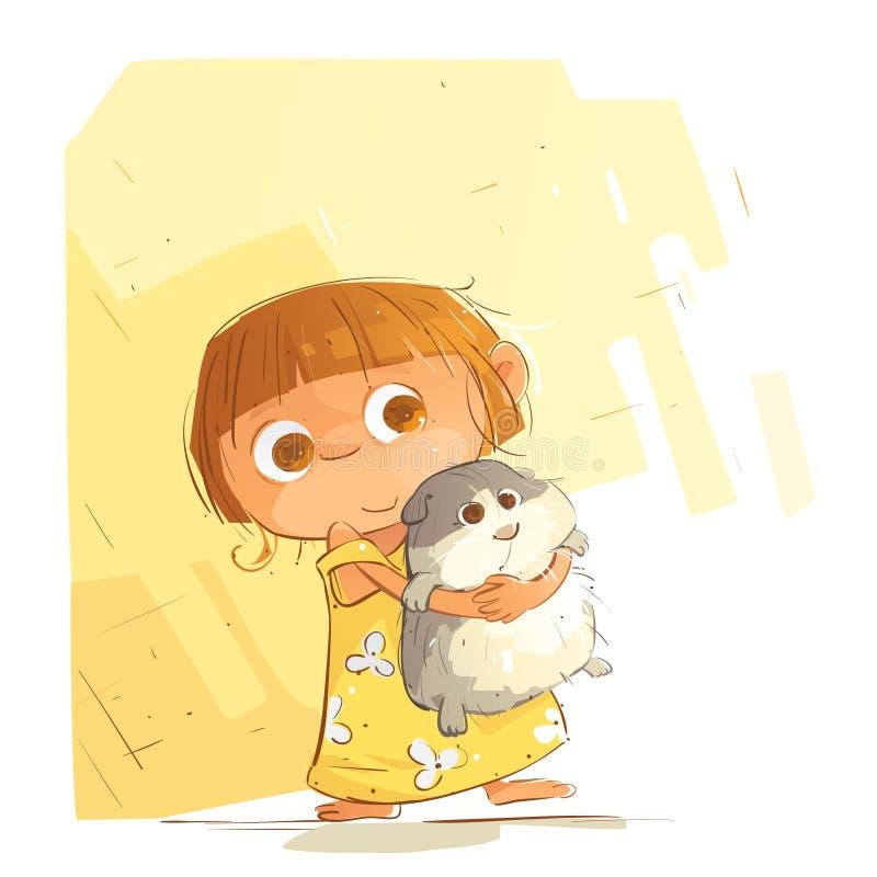 Petite fille mignonne illustration stock