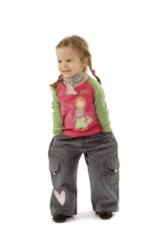 Petite fille mignonne images libres de droits
