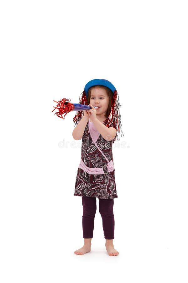 Petite fille mignonne habillée pour l'anniversaire photographie stock libre de droits