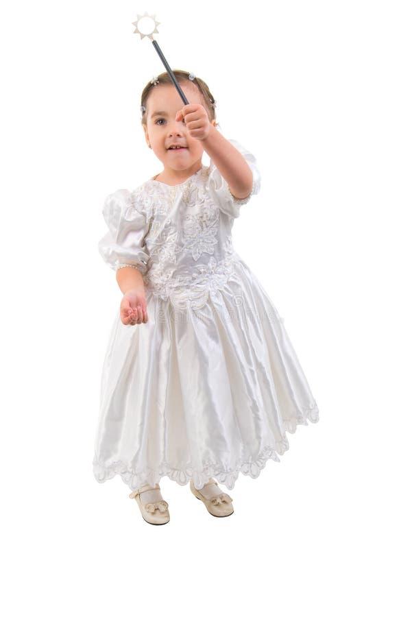 Petite fille rectifiée comme fée ou princesse. photographie stock