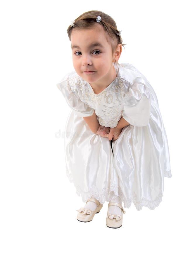 Petite fille rectifiée comme fée ou princesse. photographie stock libre de droits