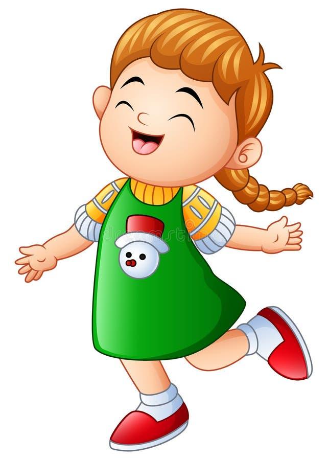 Petite fille riant et souriant illustration stock