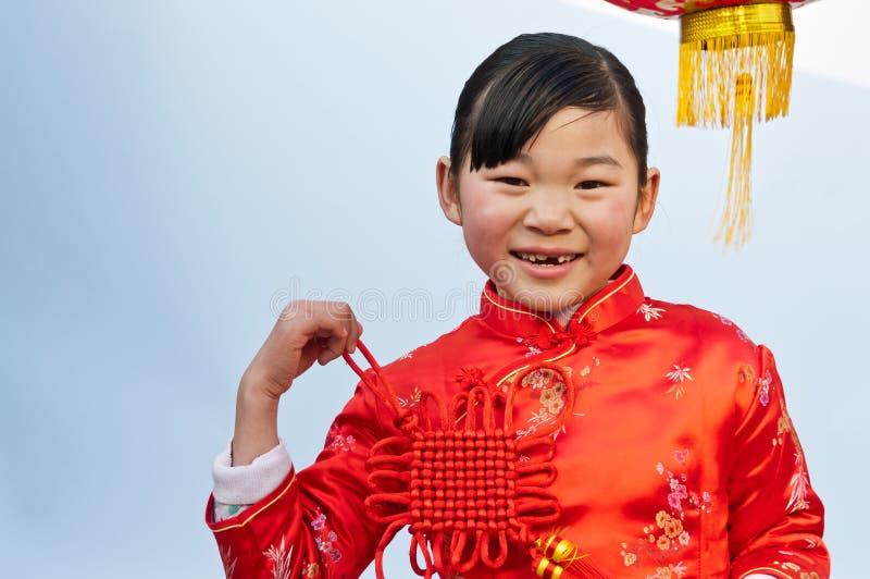 Fille chinoise de noeud image libre de droits