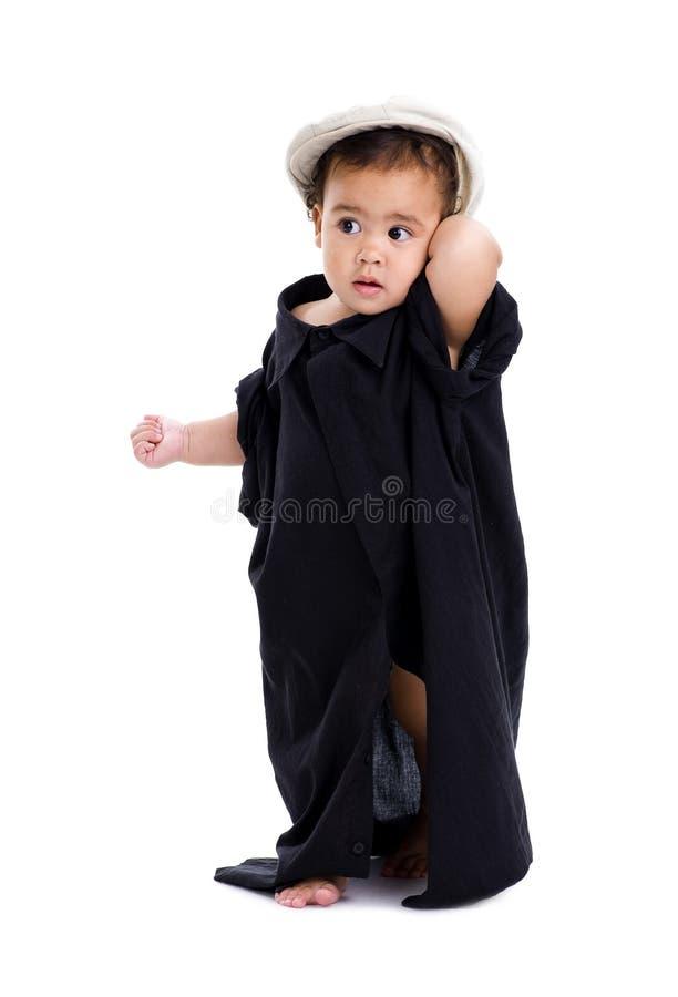 Petite fille timide photo stock