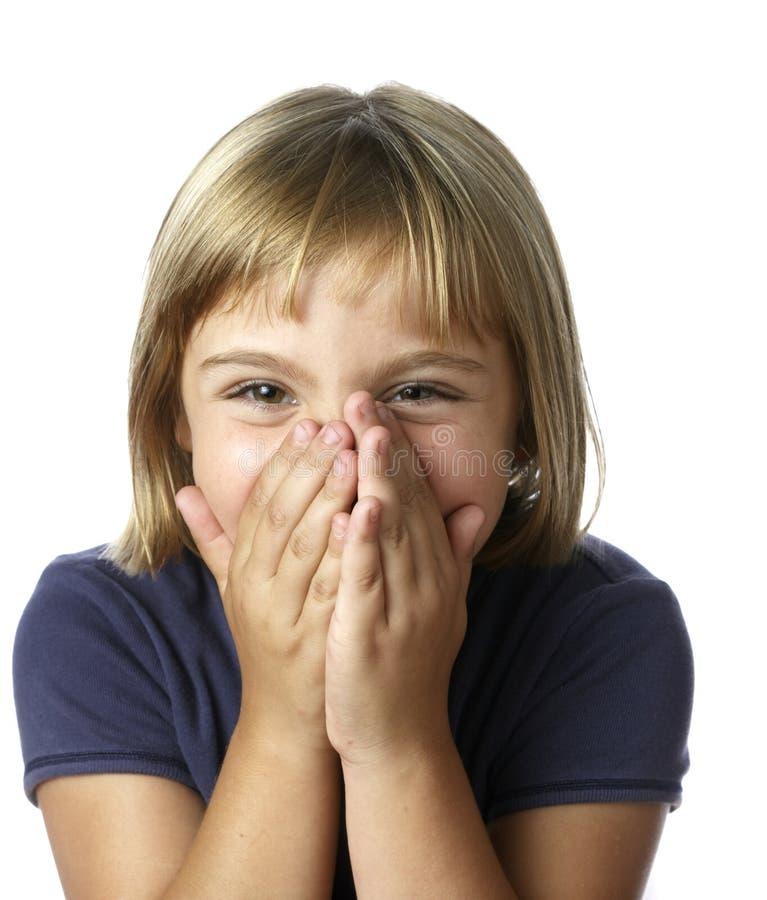 Petite fille timide photos libres de droits