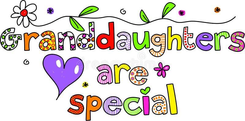 petite-filles spéciales illustration libre de droits