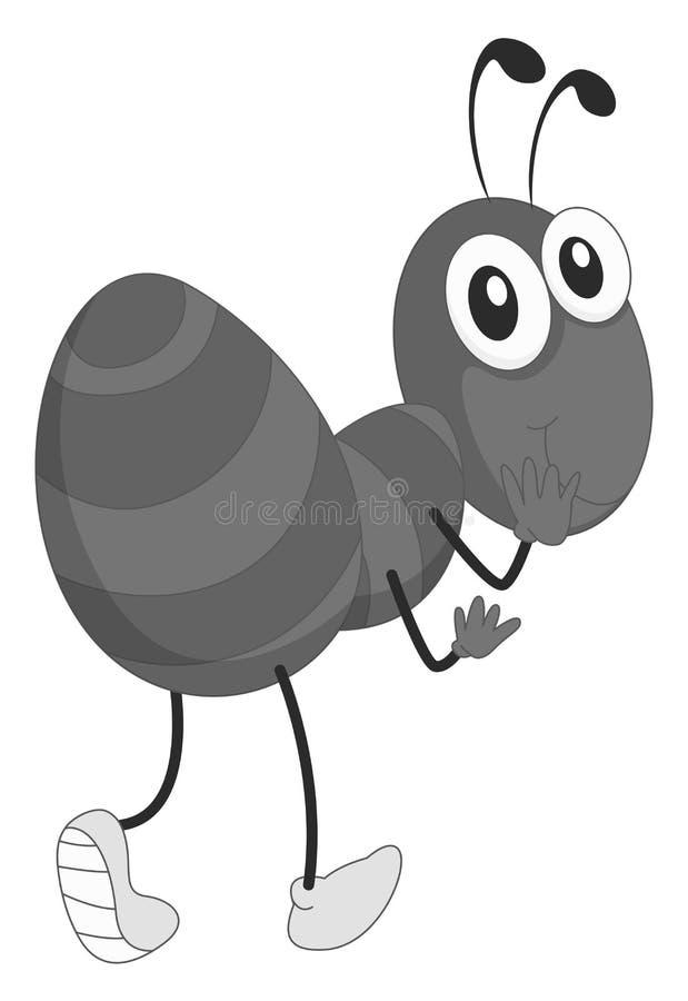 Petite fourmi ayant la main sur la bouche illustration libre de droits