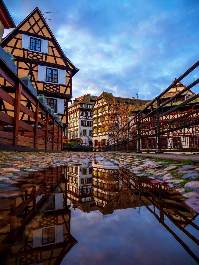 Petite France area in Strasbourg stock photo