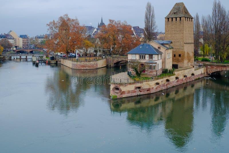 Petite France por la tarde, Estrasburgo, Francia foto de archivo libre de regalías