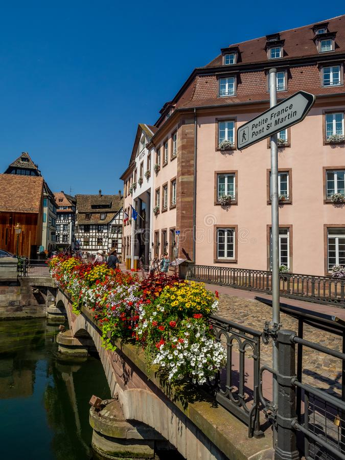 Petite France, Straatsburg stock fotografie