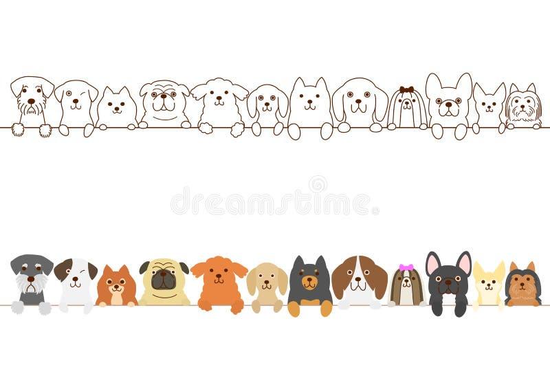 Petite frontière de chiens illustration stock