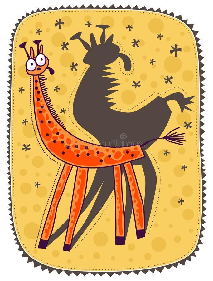 petite giraffe illustration stock